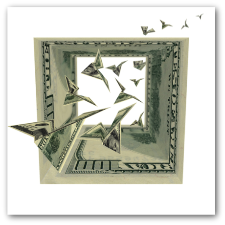 Edward Thomas Associates: Birds in dollars square to illustrate small business accounting cash flow